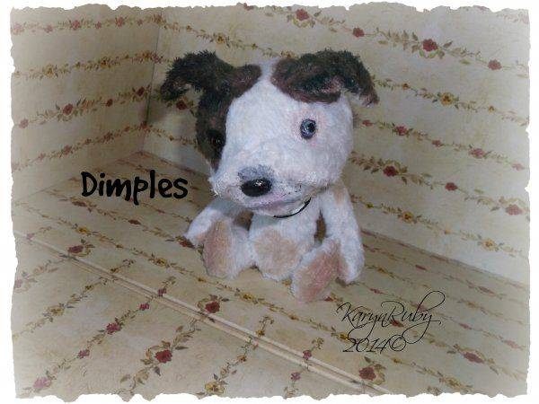 Dimples 7 inch PitBull Vintage Style Viscose or Mohair $17.00