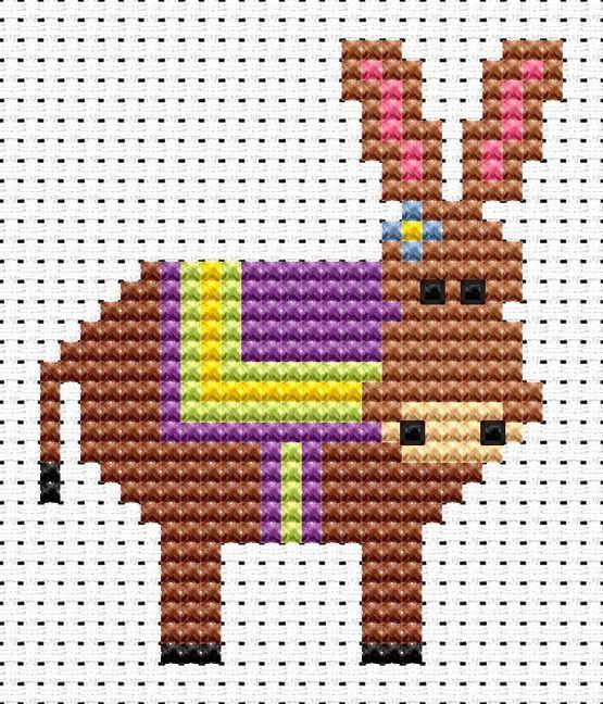 Sew Simple Donkey Cross Stitch Kit £8.95 | Past Impressions | Fat Cat Cross Stitch