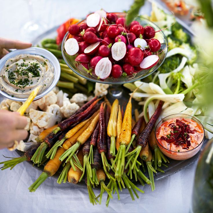 Grönsaker med två sorters dipp