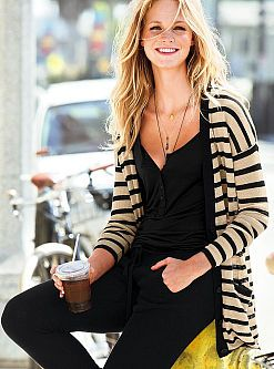 Cute, Striped Cardigan - add some stripes to your life! #VSinsider