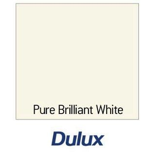 Dulux Water Based Satinwood Gloss Paint Pure Brilliant White