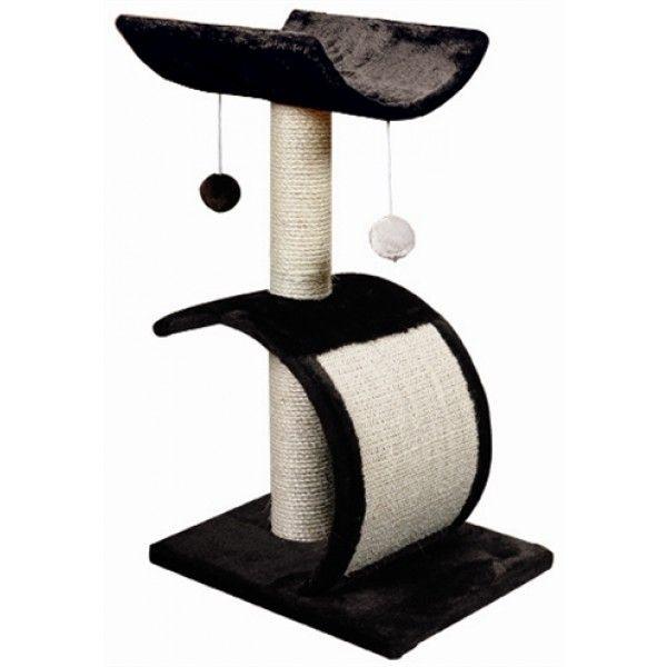 De Adori Krabpaal Debby is een decoratieve en moderne krabpaal in zwart/wit. De krapbaal is voorzien van twee speelballetjes en een plateau waar de kat lekker op kan liggen. Naast de stevige sisalpalen is deze krabpaal ook voorzien van een krabplank waar de kat zijn nagels op kan scherpen.