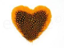 vintage veren hart applicatie oranje corsage