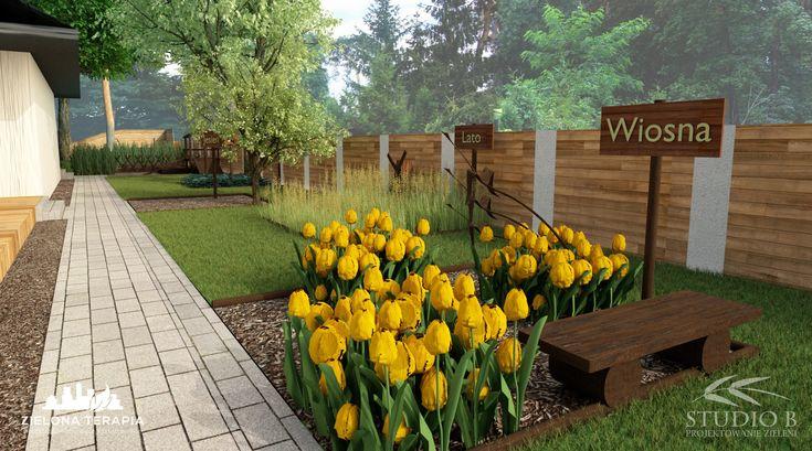 W ogrodzie zaprojektowanych jest wiele elementów edukacyjnych zapewniających w doświadczalny sposób przyswajanie wiedzy przyrodniczej przez dzieci.