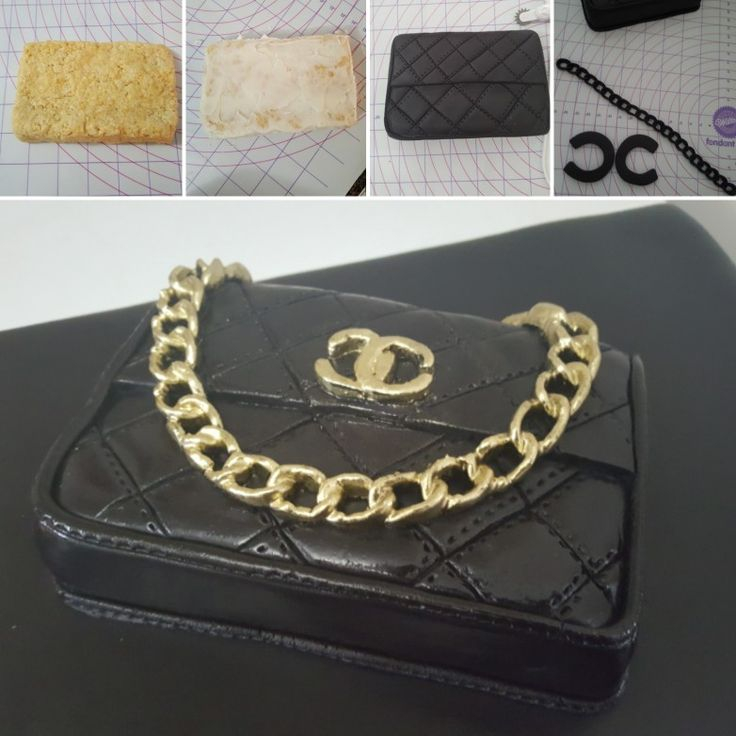 Chanel purse cake tutorial