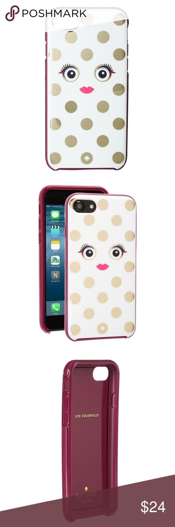 NWT - Kate Spade Framed Monster iPhone 7 Case Bring stylish and cute inner monster with you where ever you go carrying the Kate Spade New York® Framed Picture Dot Monster Phone Case. SKU: 8792691 Case made of resin. Protective cover compatible for use with smartphones like the iPhone® 7. Polka dot and face print at back. Live colorfully print inside. Direct access to all device features. kate spade Accessories Phone Cases