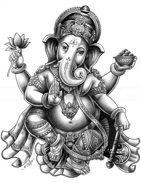 Resultado de imagen para dioses hindúes ganesha dibujos