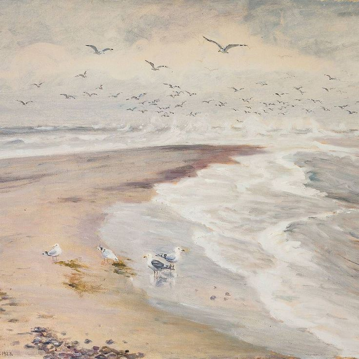'Jutland! Salient land you are / Lofty land with woods afar! / Wild in the west the sands expanse / Rises in place of the mountains dance. / Waters of Baltic and Northern Seas / At Skagen meet the eye to please'. 'The Skaw Spit' painted by Michael Ancher words by Hans Christian Andersen. #michaelancher #hanschristianandersen