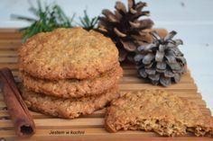 Basia w kuchni: Najlepsze chrupiące ciasteczka owsiano - cynamonowe.