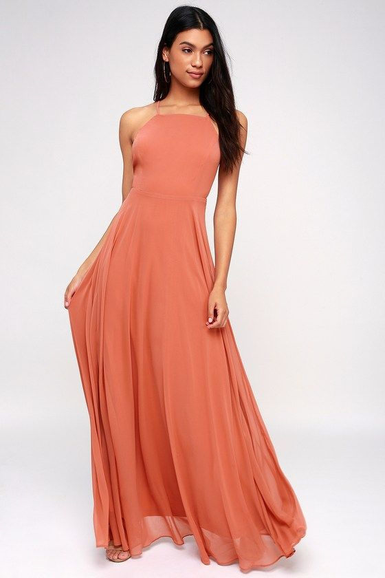 101642324cc0f Lulus | Mythical Kind of Love Rusty Rose Maxi Dress | Size Large ...