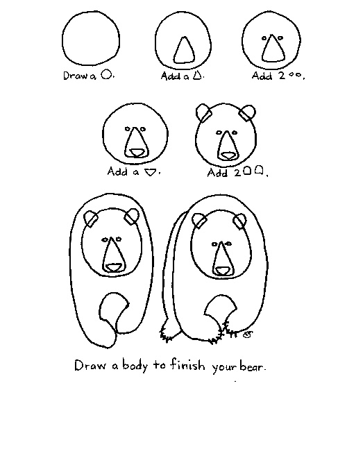 Love bears! Here's how to draw one!
