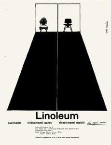 Albe Steiner, Annunci pubblicitari / Advertisings, Società del Linoleum post, 1954, courtesy Archivio Albe e Lica Steiner, DPA, Politecnico di Milano
