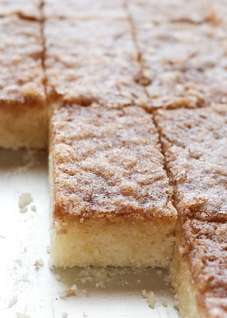 Cinnamon Toast Bars are the ultimate dessert for any cinnamon toast lover! recipe by Barefeet In The Kitchen