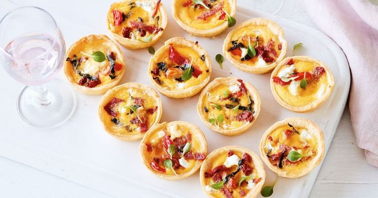 Stop by the deli to pick up antipasto mix for filling these mini quiches.