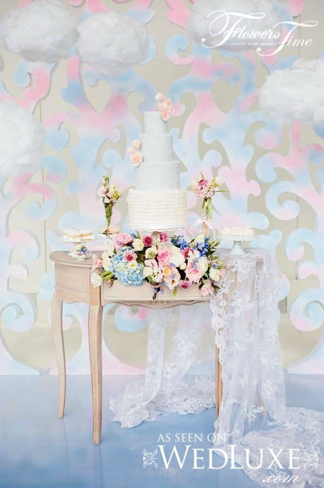 Pantone colour wedding cake floral decoration by Flowers Time