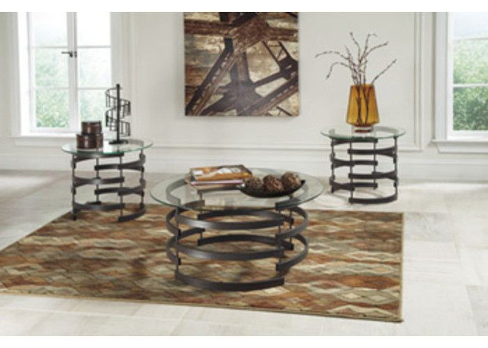 T408-13 Kaymine Occasional Table Set (3/CN) - Black - Free Shipping!