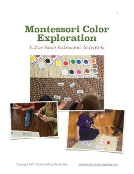 For those who already own the Montessori color boxes or have purchased them separately, this file includes four follow up extensions to study primary colors, secondary colors, and shading.   As a bonus, there is a blank copy master for making color booklets that can be used with any of the three color boxes.