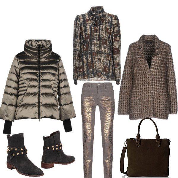 giacca colore bronze donna