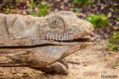 """Laden Sie das lizenzfreie Foto """"Holzreptilie"""" von Photocreatief zum günstigen Preis auf Fotolia.com herunter. Stöbern Sie in unserer Bilddatenbank und finden Sie schnell das perfekte Stockfoto für Ihr Marketing-Projekt!"""