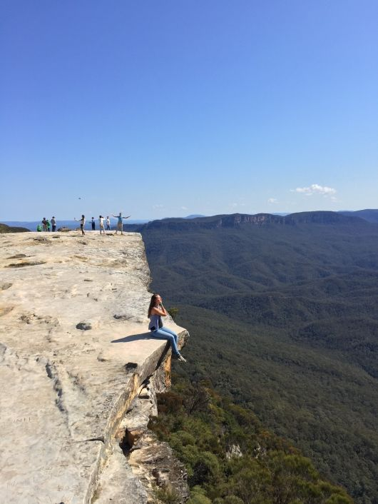 Girl at Lincoln's Rock, Blue Mountain, Sydney.