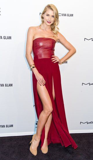 Lena Gercke at the amfAR gala in New York.