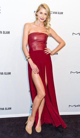 Lena Gercke at the amfAR gala in New York.