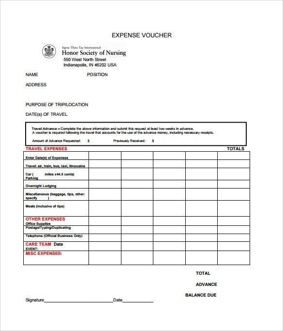 Voucher Template Word Excel Pdf Formats Templates Voucher