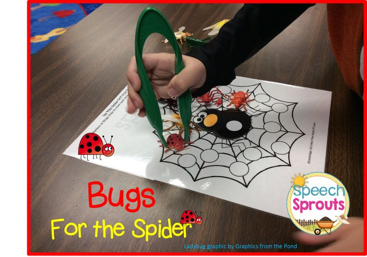 Day 2: More Spider Fun! Feeding the spider... fun /sp/ practice with Speech Sprouts Itsy Bitsy Spider Unit. $