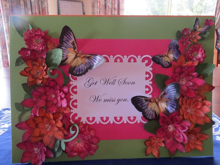 Get Well card made using my first Heartfelt creations stamps and dies