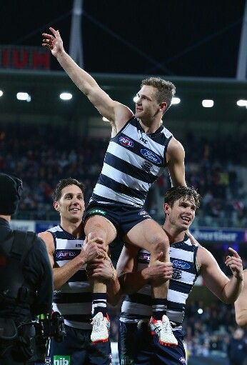 Joel Selwood - Geelong Cats - celebrating 200 games 08/08/2015