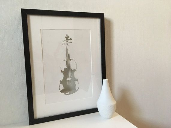 Violin PAPER CUT A4 Violinist fiolin by PapirKlippKompaniet