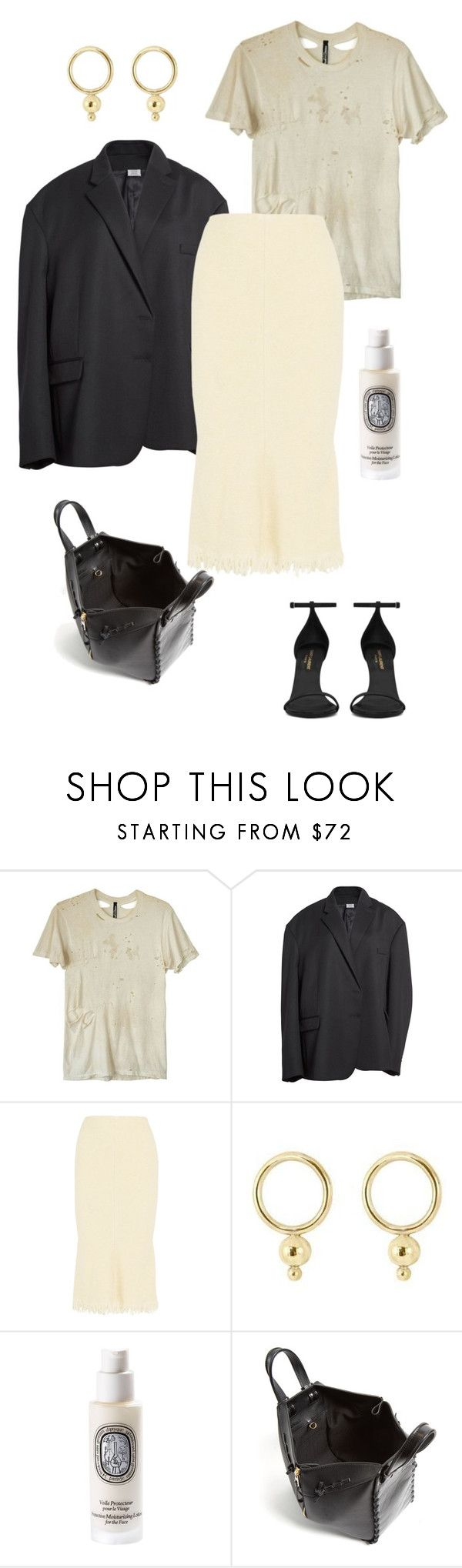 """""""24/08 1.2"""" by deborarosa ❤ liked on Polyvore featuring Obesity and Speed, Vetements, Victoria Beckham, Young Frankk, Diptyque, Loewe and Yves Saint Laurent"""
