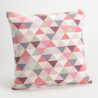Coussin 100% coton triangle scandinave rose 40x40cm SCANDI