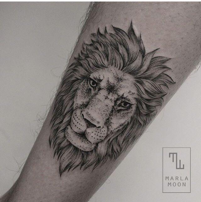 Tattoo Designs By Dana: Lion Dot Work