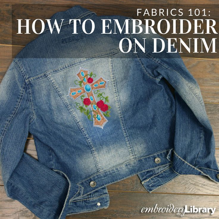 Get tips and tricks for adding machine embroidery to denim from Embroidery Library.
