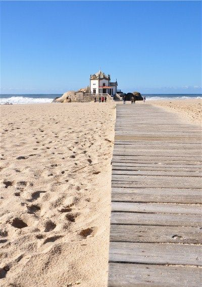 Church at the beach, Miramar, Portugal