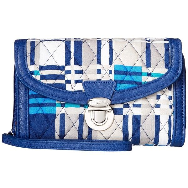 Vera Bradley Ultimate Wristlet (Santiago Woven) ($54) ❤ liked on Polyvore featuring bags, handbags, clutches, blue handbags, blue wristlet, vera bradley, vera bradley wristlet and woven purses
