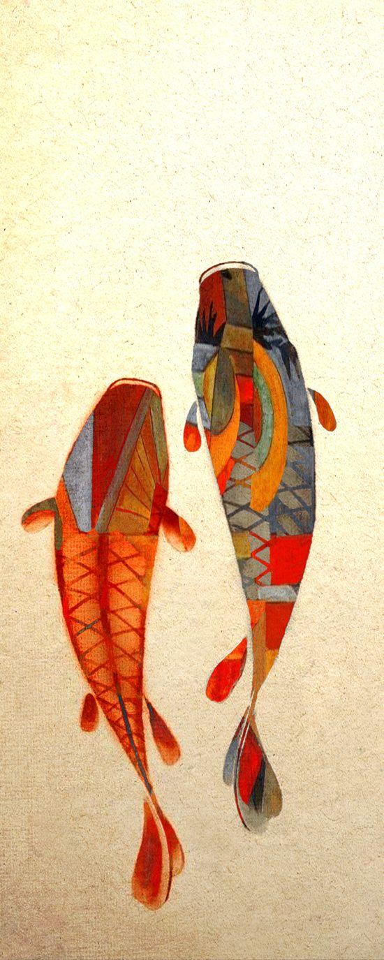 Best 25 koi ideas only on pinterest koi carp koi art for Koi canvas print