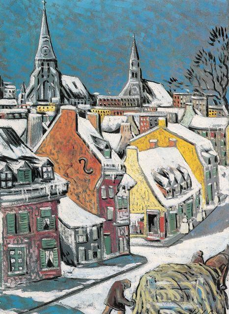 Marc-Aurèle Fortin (Canadian, 1888 -1970) - Rue de Lagauchetière