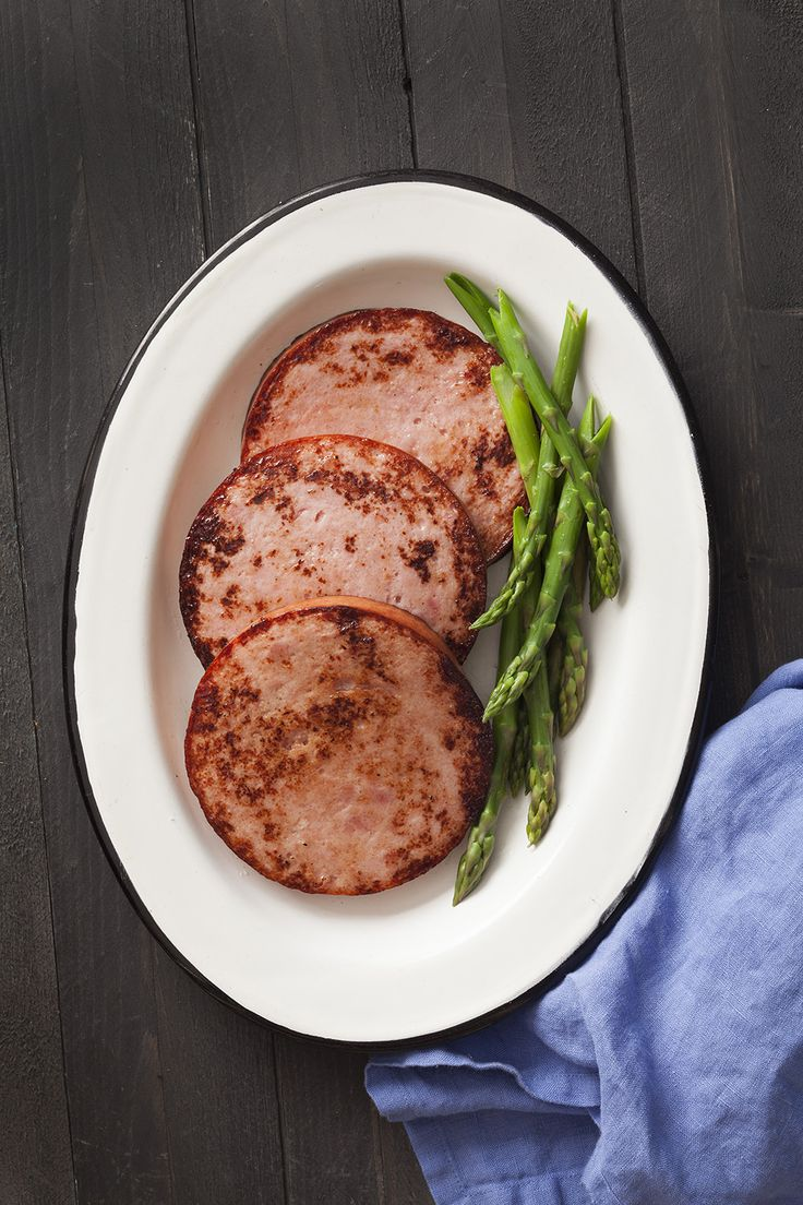 Taste the greatness of this Capital BNR Ham! Even as simple as this already is, it makes a great lunch or dinner! Having it with asparagus completes the meal.