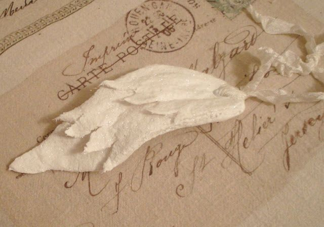 ~ The Feathered Nest ~: Free Angel Wing Ornament Tutorial!