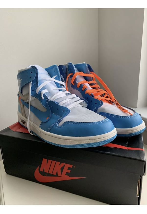 Nike Off White Jordan 1 Unc Blue Size 12 Men S