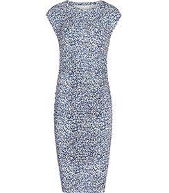 Womens Blue Abstract-print Dress - Reiss Jo