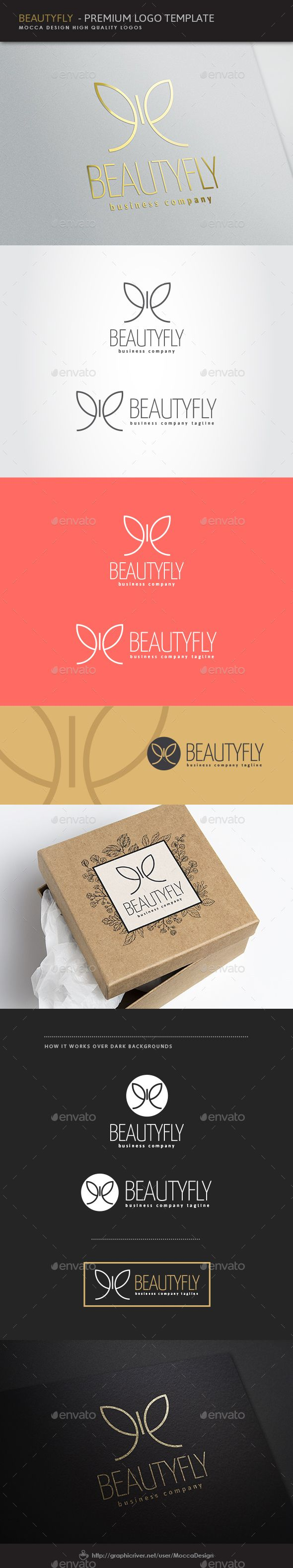 Beautyfly Logo — Transparent PNG #perfume #women • Available here → https://graphicriver.net/item/beautyfly-logo/8493569?ref=pxcr
