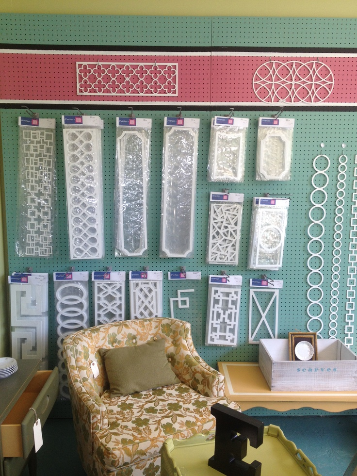 O'verlays decorative adhesive fretwork ad charm and pizazz to any piece of furniture, mirror or whatever else you can think of.