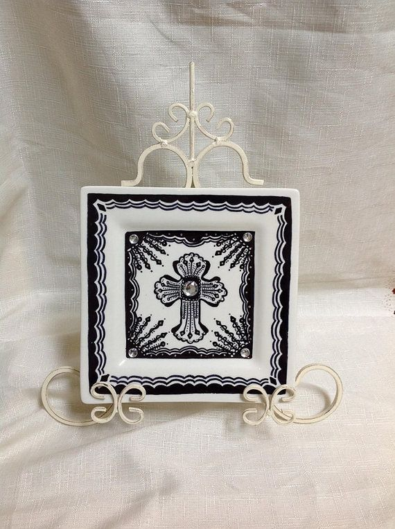 Hand painted Celtic Cross plate wall hanging. on Etsy, $49.95 AUD