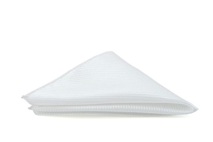 White Stripe Vest Fabric Wedding  Hank