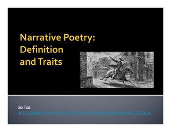 Intro to Narrative Poetry/Paul Revere's Ride