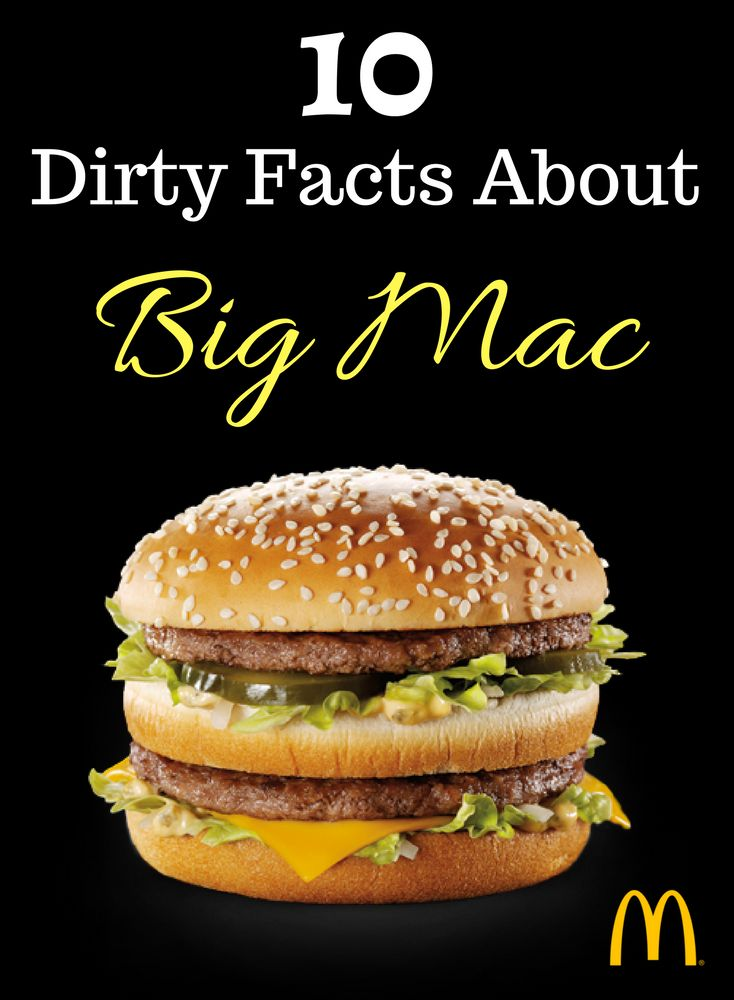 Avoid McDonalds Big Mac at any cost. These are 10 dirty facts