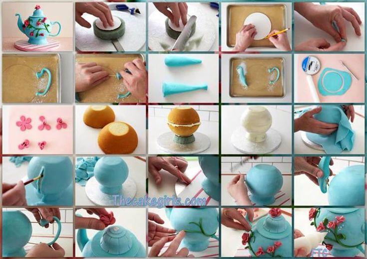Pinterest Creatief met Stof | creatief met ciska: theepot taart